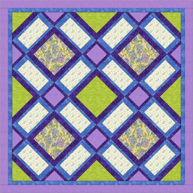 Garden windows purple and green quilt