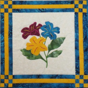 Pieceless applique single block