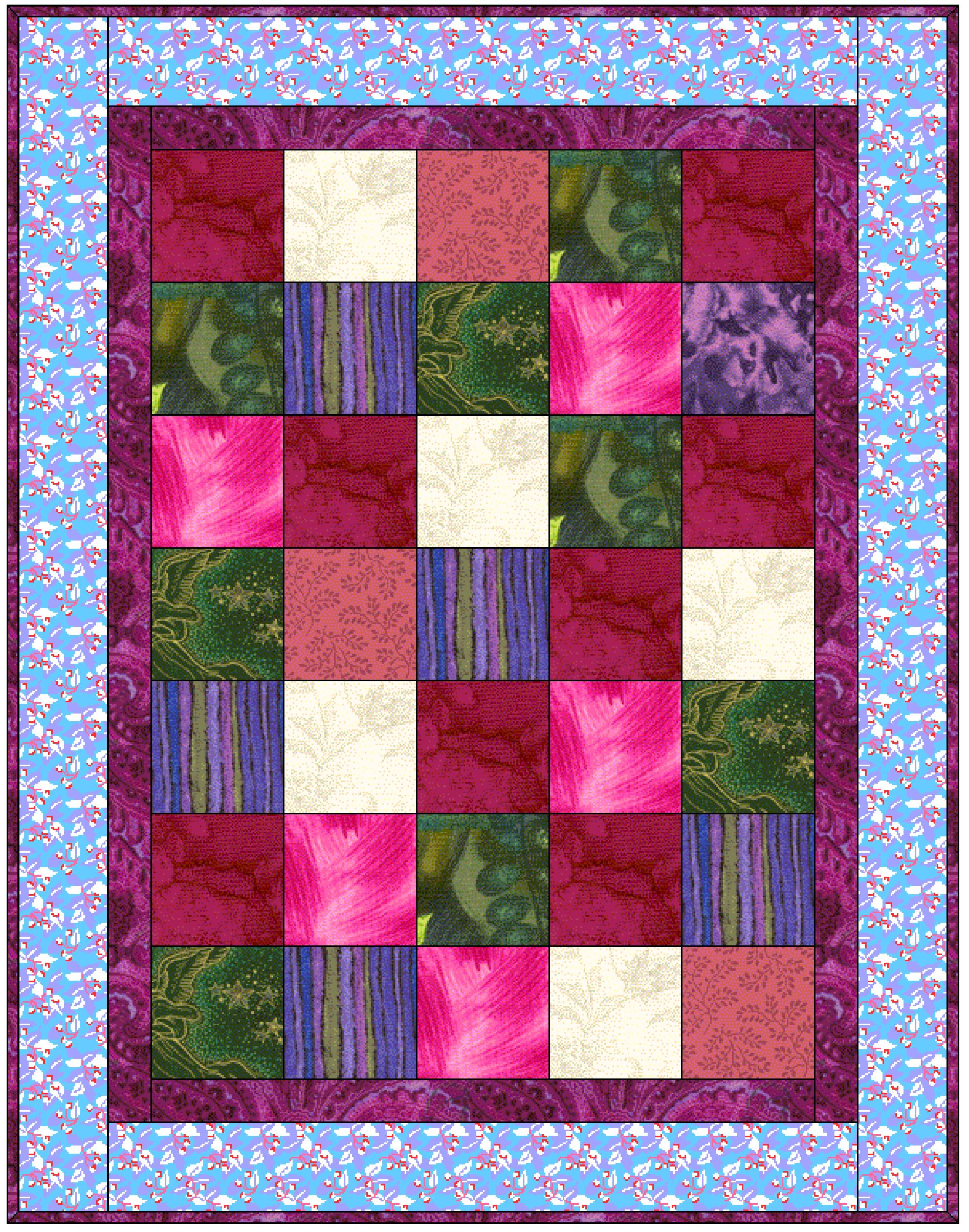 basket weave quilt pattern instructions