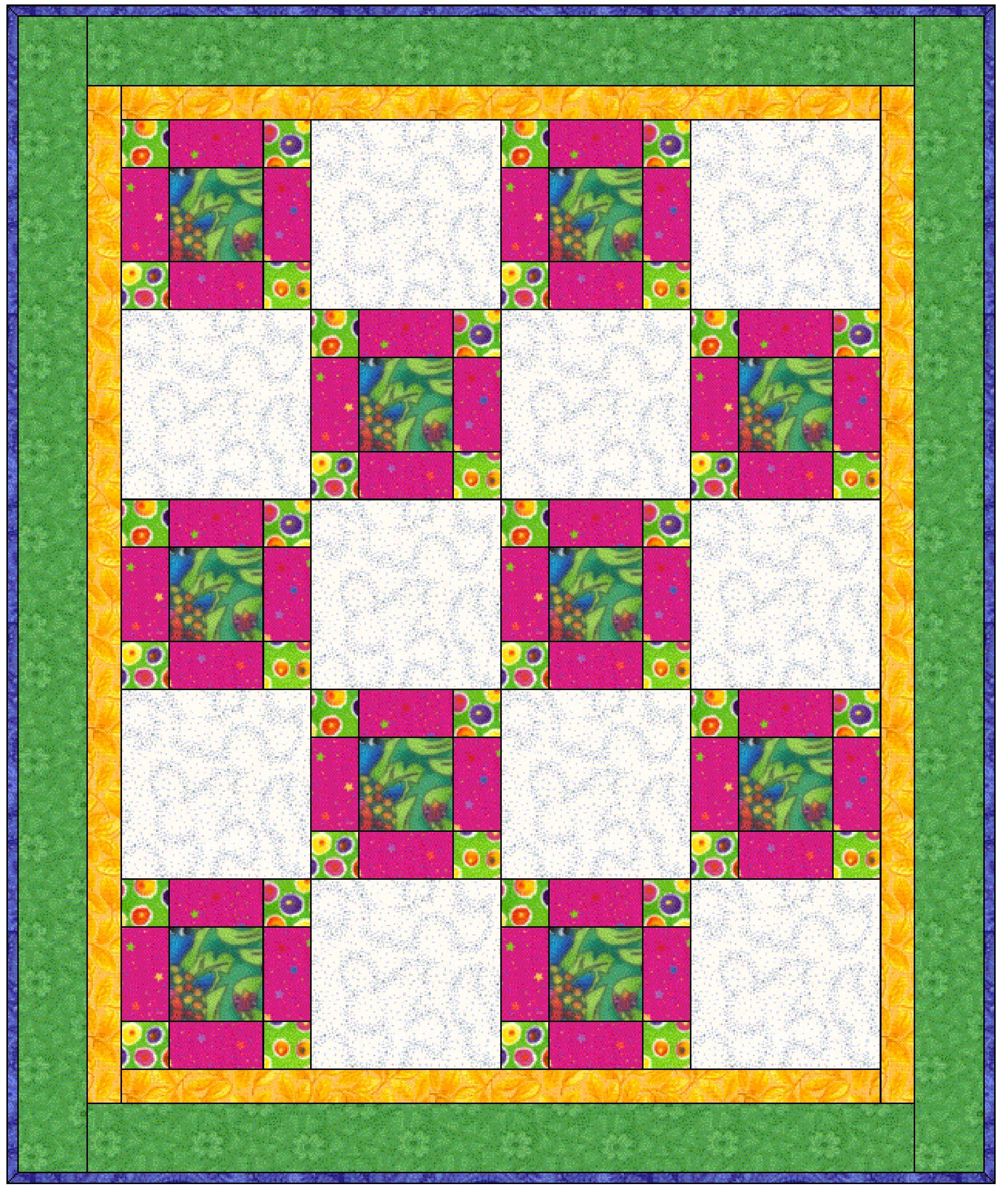 Uneven Nine Patch Quilt Pattern Atlasposts
