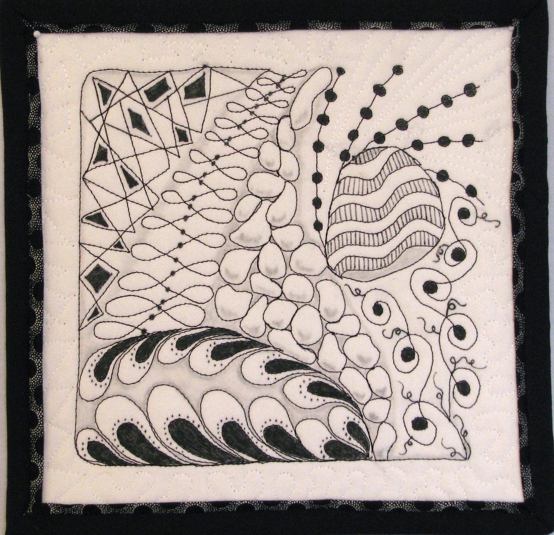 Zentangle drawing and quilting   Mystery Bay Quilt Design