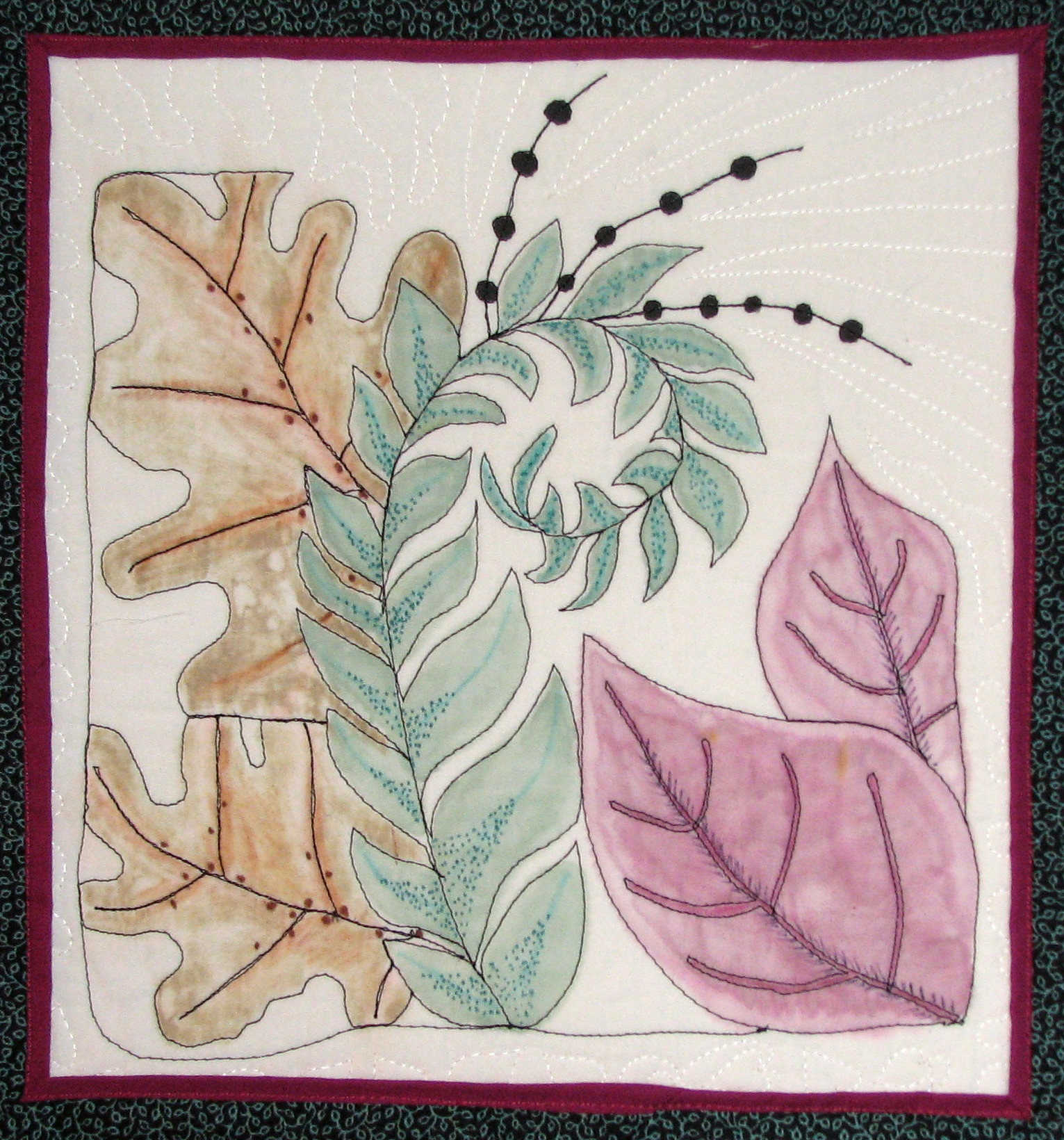 Zentangle drawing and quilting | Mystery Bay Quilt Design - photo#42