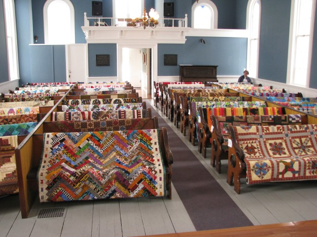 Old and new quilts on display in St Paul's Church