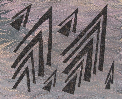 Cut up triangles for negative space exercise