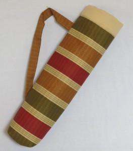 A completed quilt stick quiver