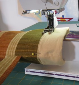 Quiver top cuff seam
