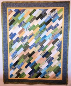 diagonal scrappy quilt as you go