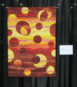 Fireballs Quilt at the Pacific West Quilt Show 2013