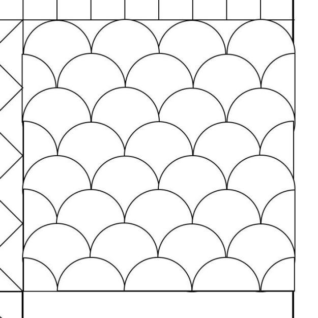 Clamshell quilting pattern