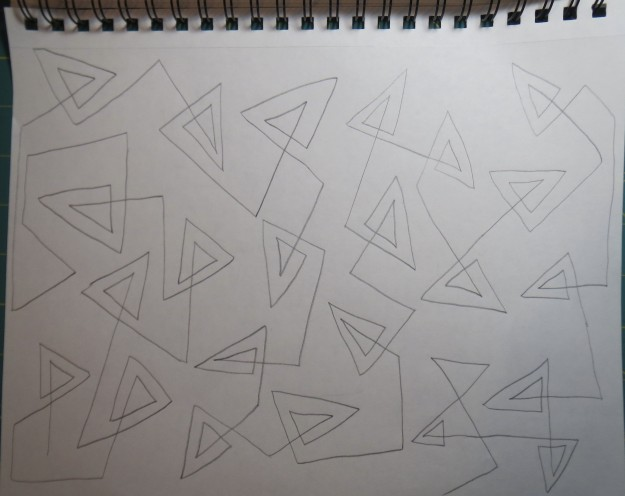 Larger double triangles - fills the space better