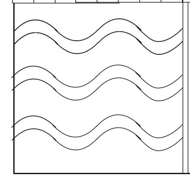 Wavy line quilting pattern