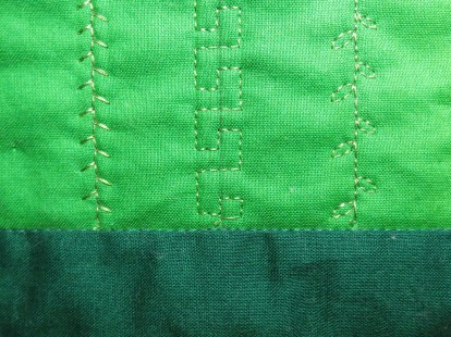 Begin and end the decorative stitch with 5 or 6 tiny staight stitches to lock the thread