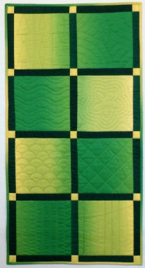 Green Beginning Machine quilting class sample