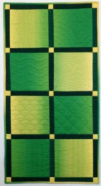 Green Beginning Machine quilting class sample