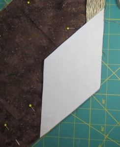 Diamond shaped marking template
