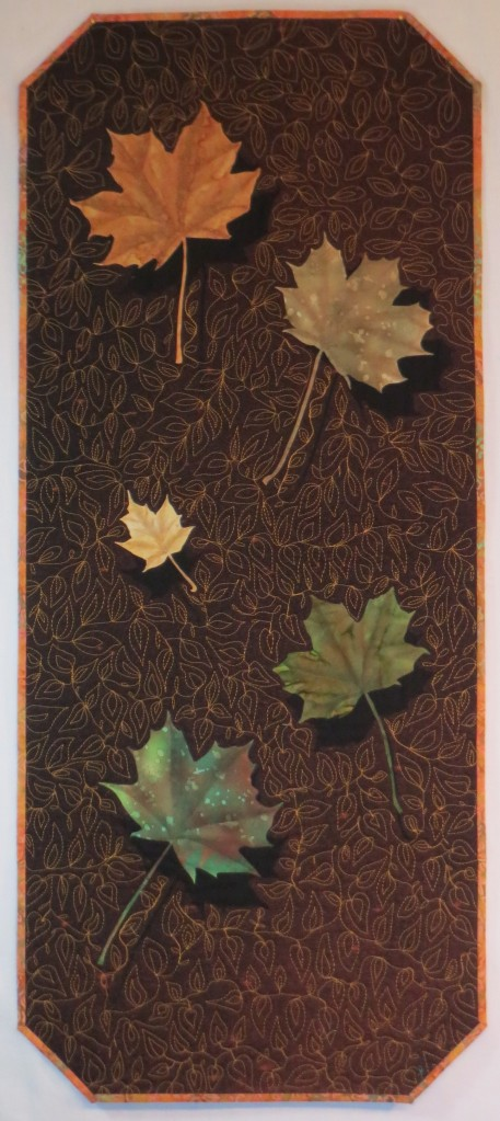 Leaf shadow quilt