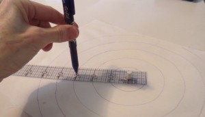 Marking template in use with Frixion pen
