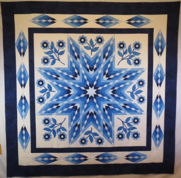 China Blue 77 x 77 inches