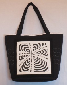 Zentangle embellished tote bag