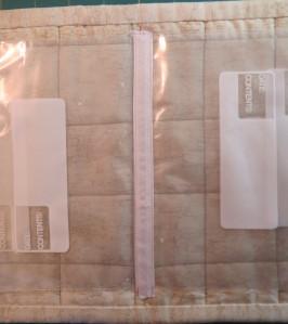 hem tape covers the zigzag seam