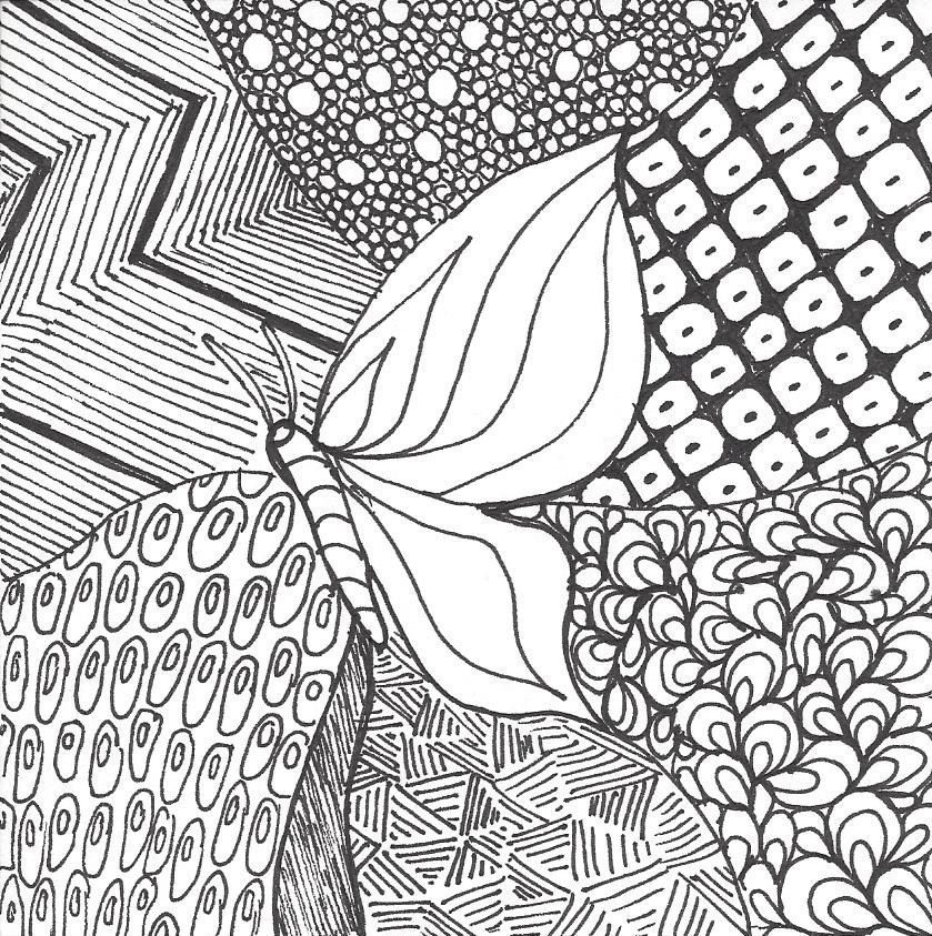 Zentangle drawing and quilting | Mystery Bay Quilt Design