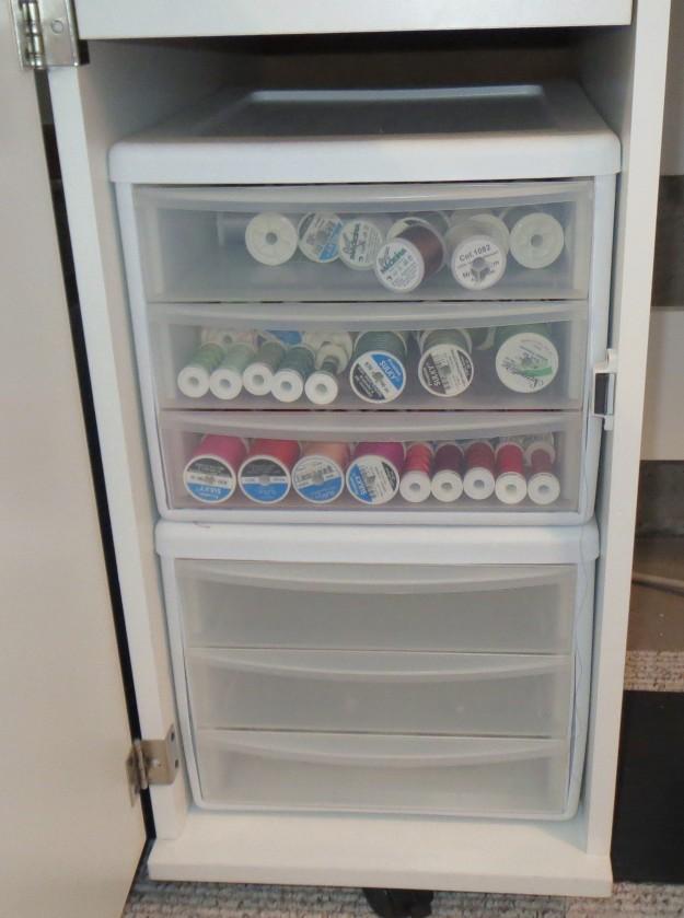 My previous thread storage bins