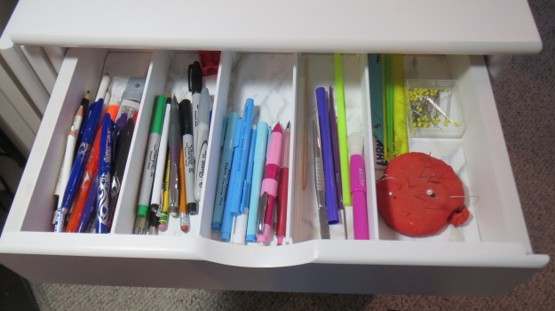 Custom drawer dividers from The Container Store