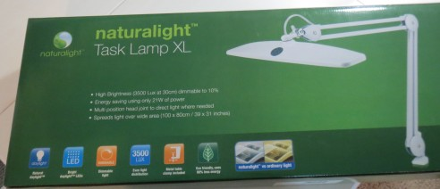 Naturalight Task Lamp in the box