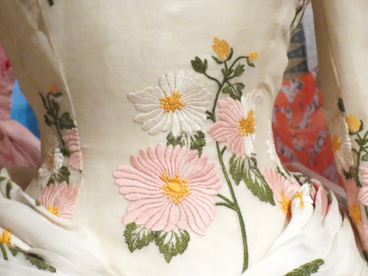 embroidered dress closeup